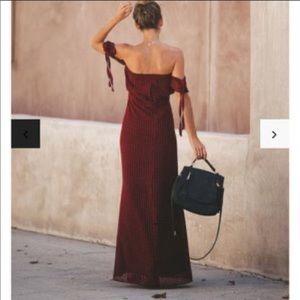 Vici Dresses - Manchester off the shoulder maxi dress